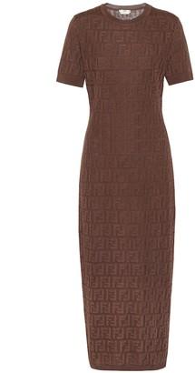 Fendi Cotton-blend knit dress