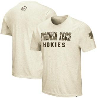 Colosseum Men's Heathered Oatmeal Virginia Tech Hokies OHT Military Appreciation Desert Camo T-Shirt