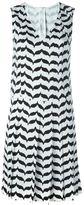 Neil Barrett printed v-neck dress - women - Polyester - 40