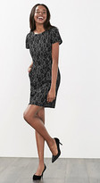 Esprit Shift dress in lace-covered jersey