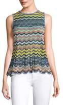 M Missoni Wave Ripple Knit Top