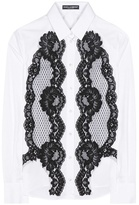 Dolce & Gabbana Lace-embellished Cotton Shirt