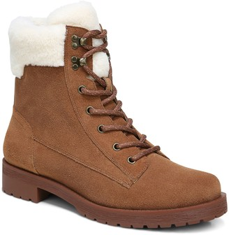 Vionic Water Resistant Suede Lace-Up Hiker Boots - Zoey