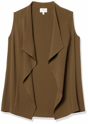 Chaus Women's Textured Crepe Tie Waist Vest
