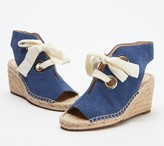 Sole Society Suede Lace-Up Wedges - Cambrine