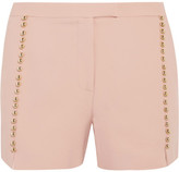 Elie Saab Embellished Crepe Shorts - Blush