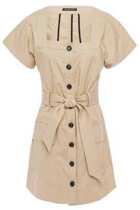 Marissa Webb Tyler Belted Stretch-cotton Canvas Mini Dress