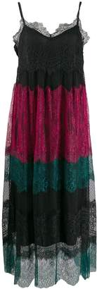 Twin-Set Twin Set colour block lace dress