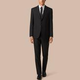 Burberry Classic Fit Wool Part-canvas Suit