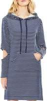 Vince Camuto Cutout Sleeve Stripe Hoodie Dress