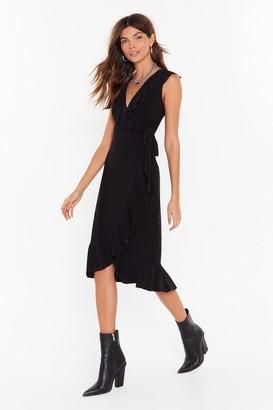 Nasty Gal Womens No Tie Waisters Midi Dress - black - 4