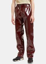 Gmbh Men's Pvc Pants In Burgundy