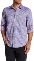 Robert Graham Collared Long Sleeve Woven Print Shirt