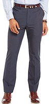Roundtree & Yorke Travel Smart Ultimate Comfort Classic Fit Flat Front Non-Iron Plaid Dress Pants