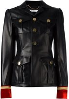 Givenchy embroidered cuff fitted jacket