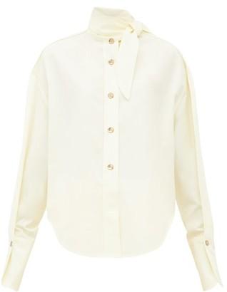Petar Petrov Beatrix Cotton-blend Poplin Shirt - Womens - Yellow