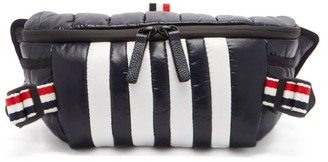 Thom Browne Four Bar Quilted-shell Belt Bag - Navy