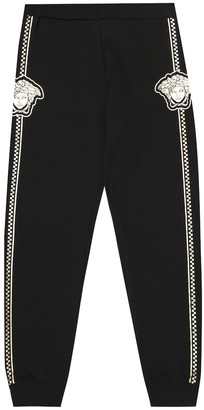 Versace Kids Printed stretch-cotton trackpants