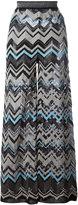 M Missoni zig zag wide leg trousers - women - Cotton/Polyamide/Polyester/Metallic Fibre - 38