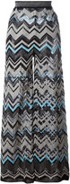 M Missoni zig zag wide leg trousers - women - Cotton/Polyamide/Polyester/Metallic Fibre - 40