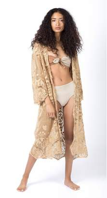 Miguelina Lenny Front-Tie Bikini Top Two-Tone