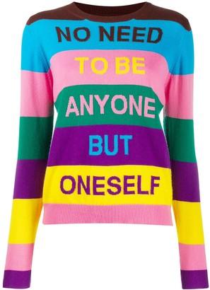 Parker Chinti & striped intarsia jumper