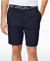 "Club Room Men's Estate Flat-Front Shorts with Belt 9"" Inseam, Created for Macy's"