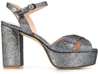 Stuart Weitzman Glittered Platform Sandals