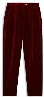 The Kooples Velvet Tapered Leg Pants
