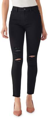 DL1961 Premium Denim Farrow Ripped Ankle High Rise Skinny Jeans