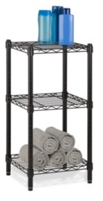 Honey-Can-Do 3-tier Wire Shelving Tower, Black