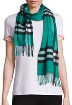 Burberry Emerald Giant Check Cashmere Scarf