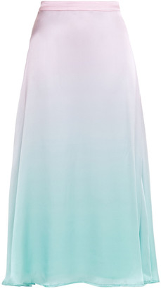 Olivia Rubin Penelope Degrade Silk-satin Midi Skirt