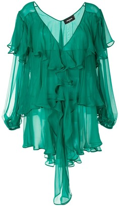 DSQUARED2 Fully Ruffled Mini Dress
