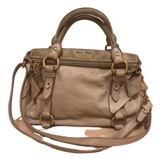 Miu Miu Bow bag Pink Leather Handbags