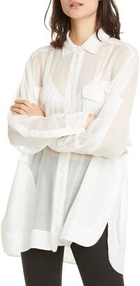 Rag & Bone Florian Sheer Tunic Shirt