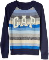 Gap Crazy stripe logo raglan sweater