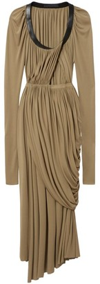 Proenza Schouler Jersey Draped Pleated Midi Dress