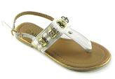 Rio White T-Strap Sandal