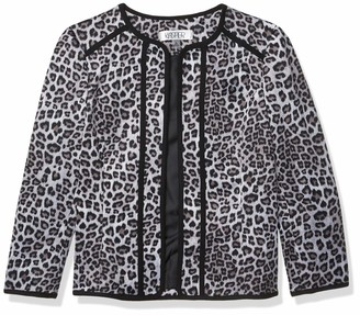 Kasper Women's Plus Size Leopard Printed Fly Away Jacket