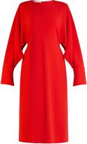 Stella McCartney Slashed-sleeve stretch-cady dress