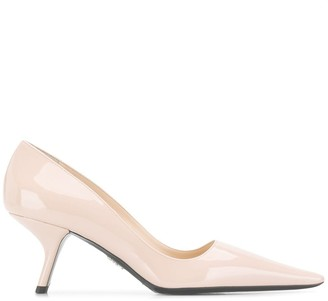 Prada 70mm angled heel pumps