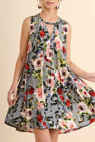 Umgee USA Grey Floral Print Dress