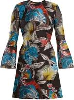 Mary Katrantzou Ligretto feather-jacquard mini dress