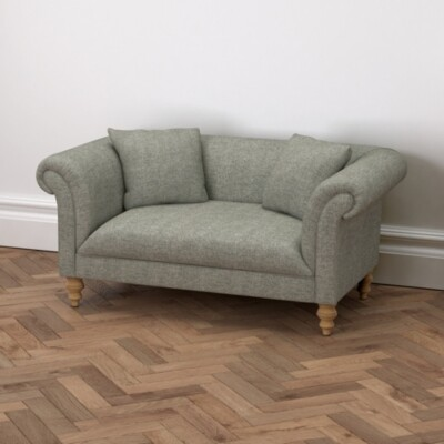 The White Company Earlsfield Tweed 2 Seater Sofa, Tweed Mid Grey, One Size
