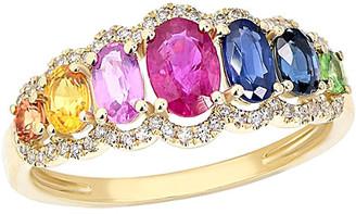 Diana M Fine Jewelry 14K 1.88 Ct. Tw. Diamond & Sapphire Ring