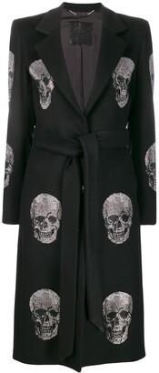 Philipp Plein Crystal Skull Coat
