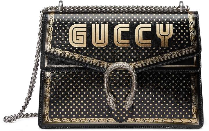 Gucci Dionysus Moon & Stars Leather Shoulder Bag