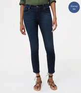 LOFT Curvy Skinny Ankle Jeans in Authentic Dark Wash