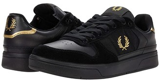 Fred Perry B300 Leather/Mesh/Suede (Black) Men's Shoes